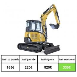Location mini pelle 6 tonnes