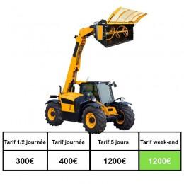 Location chariot télescopique 10ML malaxeur beton 500l