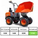 mini chargeur/transporteur à chenilles 800 kg